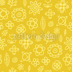 Florale Zeichnungen Rapportmuster