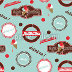 Yummy Mint Seamless Vector Pattern Design