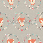 Christmas Baby Fox Pattern Design
