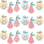 Apples and Pears Seamless Vector Pattern Design
