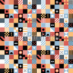 Square Game Seamless Vector Pattern Design