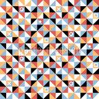 Triângulos E Quadrados Design de padrão vetorial sem costura