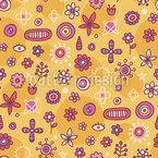 Flower Signs Seamless Vector Pattern Design