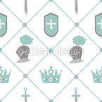 Krone und Schild Nahtloses Vektormuster