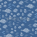 Mediterranean Sea Seamless Vector Pattern Design