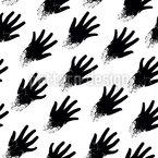 Zombie Hände Nahtloses Vektormuster