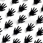 Zombie Hands Seamless Vector Pattern Design