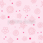 Flores felizes Design de padrão vetorial sem costura