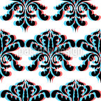 3d Baroque Seamless Vector Pattern Design