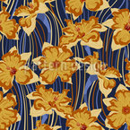 Daffodil Wave Repeating Pattern