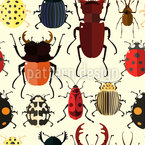 Cute Bugs Seamless Vector Pattern Design