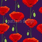 Königlicher Mohn Muster Design