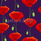 Royal Poppies Seamless Vector Pattern Design