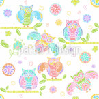 Owls On Branches Pattern Design
