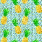 Ananas auf Eis Nahtloses Vektor Muster