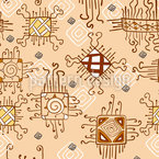 South African Art Seamless Vector Pattern Design
