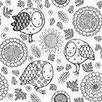 Verzauberte Spatzen Muster Design
