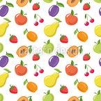 Sommerfrüchte Nahtloses Vektormuster