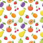 Summer Fruits Seamless Vector Pattern Design