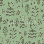 Singen In Der Wiese Nahtloses Muster