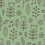 Singing In The Meadow Seamless Vector Pattern Design