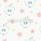 Apple Bloom Vector Pattern