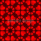 Heart Shapes Seamless Vector Pattern Design