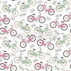 Retro Bikes Seamless Vector Pattern Design
