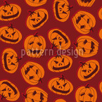 Pumpkin Heads Brown Design Pattern
