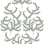 Delicate Trees Seamless Vector Pattern Design