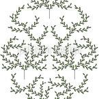 Zarte Bäume Nahtloses Vektormuster