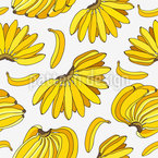 Ripe Bananas Repeating Pattern