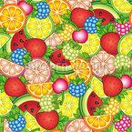 Gesunde Sommer Leckereien Nahtloses Vektormuster