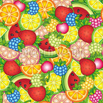 Healthy Summer Treats Seamless Vector Pattern Design