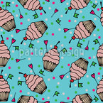 Cupcake Love Pattern Design