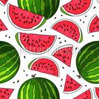 Saftige Wassermelone Nahtloses Vektormuster