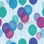Blue Balloons Vector Ornament