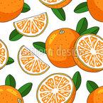 Sunny Orange Seamless Vector Pattern Design
