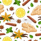 Ginger Drink Vector Pattern