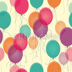 Vintage Balloons Seamless Vector Pattern Design