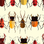 Rows Of Bugs Seamless Vector Pattern Design