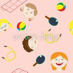 裏庭ガールズ シームレスなベクトルパターン設計