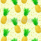 Pineapple Geometry Seamless Vector Pattern Design