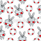 Rescued Rabbits Repeating Pattern
