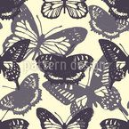 Butterfly Silhouettes Seamless Vector Pattern Design