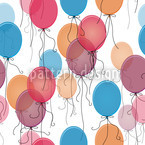 Thousand Ballons Seamless Vector Pattern Design