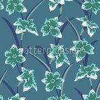 Daffodil At Night Seamless Vector Pattern Design