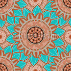 Lagoon Mandala Seamless Vector Pattern Design