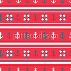 Nautical Stripes Seamless Vector Pattern Design