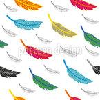 Fliegende Federn Nahtloses Vektormuster